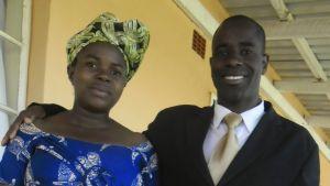 Lukogo Byona och hans hustru.