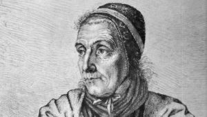 Ludwig Emil Grimms porträtt av Dorothea Viehmann från 1815.