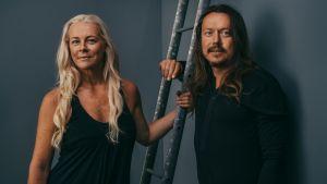 Malena Ernman och Svante Thunberg. 2018.