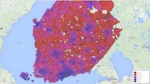 Inkomstfördelning enligt postnummerområde år 2012
