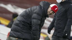 Jürgen Klopp ser besviken ut.