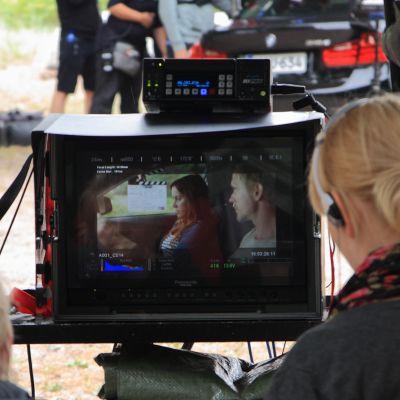 """Inspelningen av """"Kesäkaverit"""" började på måndagen  i Hangö."""