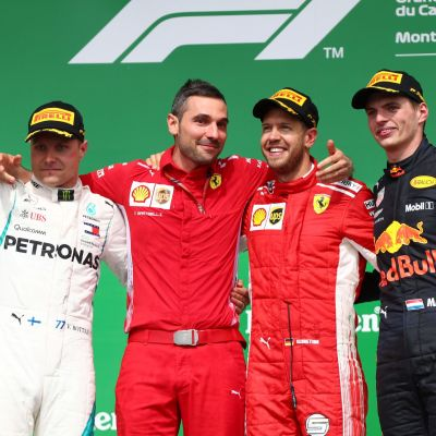 Valtteri Bottas Sebastian Vettel Max Verstappen
