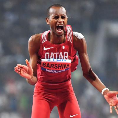 Mutaz Essa Barshim vann guld på hemmaplan.