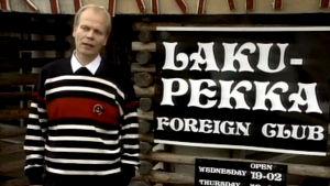 Jouni Lanamäki Laku-Pekka-ravintolan edessä (1992).