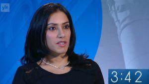 Midiya Zahir Hatam från Raseborg ställer upp för SFP i riksdagsvalet 2015.