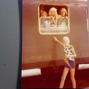 Ann-Sophie och Mia på Interrail.