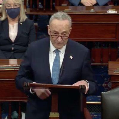 Senatens minoritetsledare, demokraten Chuck Schumer
