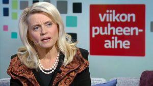 Päivi Räsänen i Yles Morgon-tv den 30 januari 2016.