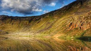 Del av bergskedjan Pyrenéerna.
