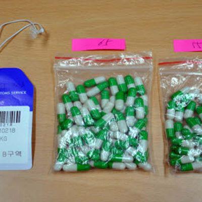 Kapslar med narkotika.