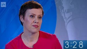 Maarit Feldt-Ranta från Raseborg ställer upp för Socialdemokraterna i riksdagsvalet år 2015.