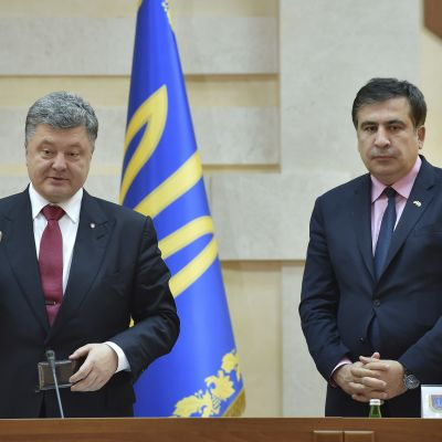Petro Porošenko ja Mihail Saakashvili