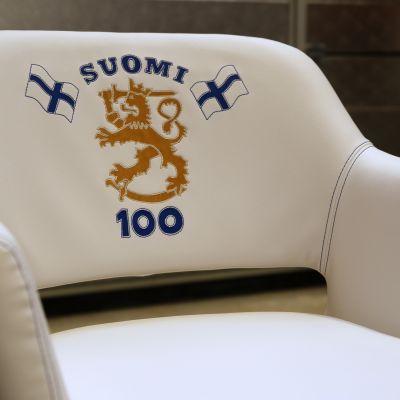 Marja Nukala verhoomo Alahärmä Kilta-tuoli Suomi 100