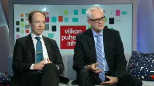 Europaparlamentarikerna Jussi Halla-aho och Petri Sarvamaa