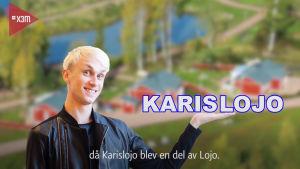 Pärmbild för Karislojo kommunreklam, skärmdump