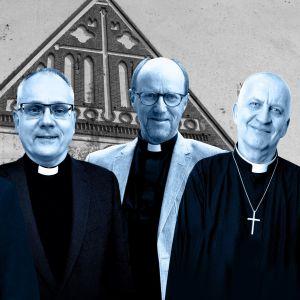 biskopskandidaterna (från vänster till höger) : Lisa Enckell, Bo-Göran Åstrand, Sixten Ekstrand, Harry S. Backström