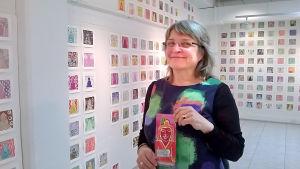 """Marja Kolu är kurator för utställningen """"Varifrån kommer du?"""" på Seinäjoki Konsthall."""