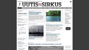 Kuvakaappaus Uutis-Sirkus -sivustosta.
