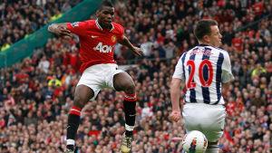 Paul Pogba spelade tidigare för Manchester United. Här avlossar han ett skott.