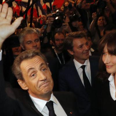 Nicolas Sarkozy med hustrun Carla Bruni-Sarkozy