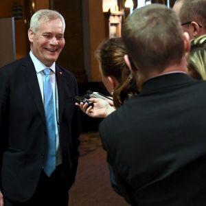 Antti Rinne (SDP) i Ständerhuset i Helsingfors den 29 maj 2019.