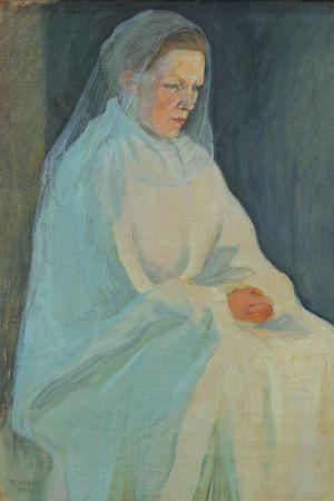 Målning Madonna av Pekka Halonen från 1902.
