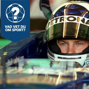 Kimi Räikkönen är i paradbilden för veckans sportquiz.