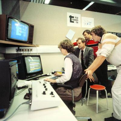 Teksti-TV:n toimitus 1980-luvulla