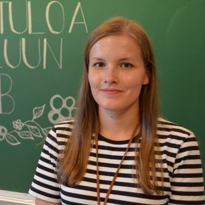 Leena Talvitie sai ensimmäisen määräaikaisen opettajan työnsä Ilmajoelta Palonkylän koulusta.