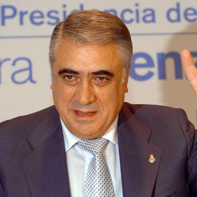 Kuvassa Real Madridin entinen puheenjohtaja Lorenzo Sanz