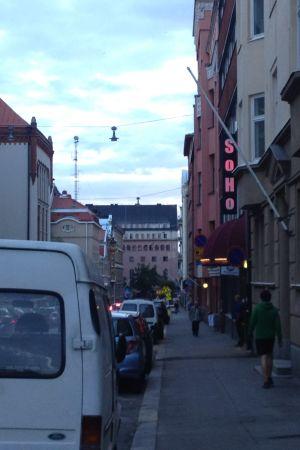 Nattklubben Soho ligger på Bangatan i Helsingfors.