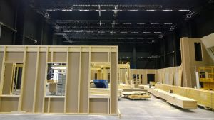 Uuden päivän studion rakennustyömaa Mediapoliksessa