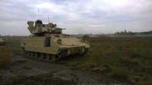 Nato har skickat ett amerikanskt pansarkompani till Estland.