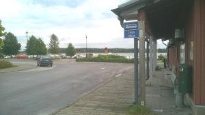 Busstationen i Ingå kyrkby