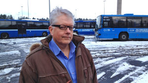 Jussi Mertanen, personalchef på Helsingfors Busstrafik.