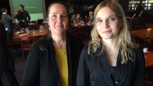 Fredsseminarium i Mariehamn. Fredsintitutets tjänstlediga direktör Sia Spiliopoulou Åkermark forskar tillsammans med Saila Heinikoski om Ålands demilitarisering i en militariserad värld.