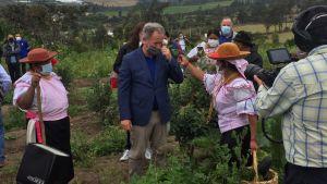 Chefen för FN:s livsmedelsprogram, David Beasley i Ecuador den 22 juli 2020
