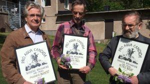 Magnus Buchert, Ralf Pauli och Peter Boldt.