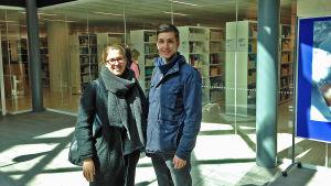 Camilla Lindberg och Benjamin Windell studerar juridik i Helsingfors.