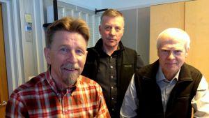 Carl-Gustav Mangs, Olav Sjögård  och Bernhard Utter
