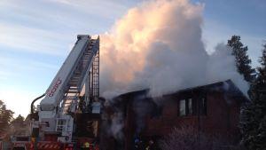 Huset på Svangränd totalförstördes i branden