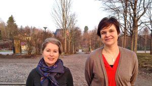 Musiklärare Filippa Salo och rektor Agneta Torsell vid Lagstads skola