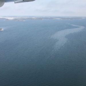 Olja på Skärgårdshavet vid Korpo