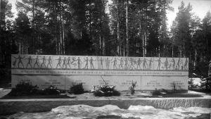 Gravmonument vid Marie begravningsplats i Karleby över de som dog i inbördeskriget 1918.