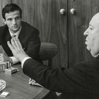 François Truffaut ja Alfred Hitchcock. Kuva dokumenttielokuvasta Hitchcock/Truffaut
