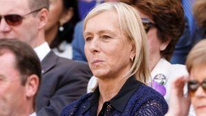 Martina Navratilova vid Wimbledon 2015.