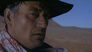 Etsijät, ohjaus John Ford. Kuvassa John Wayne.