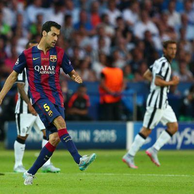 Sergio Busquets i Champions League-finalen våren 2015 - mot Juventus.
