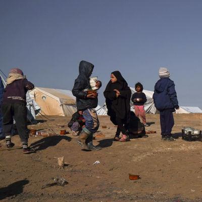 Barn i lägret al-Hol.